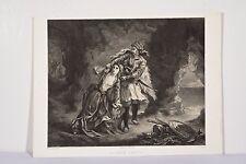 La fiancée d'Abydos litho XIX° d'après Delacroix par Ch Hue v 1858 Poème Byron