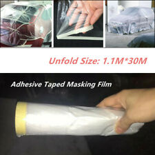 Car Body Adhesive Masking Film Clear Spray Paint Cover Roll Sheet Dust Protector