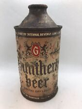 Gunther's Cone Top Beer Can - 12 Fl., Oz., - Irtp - Flat Bottom - Baltimore, Md