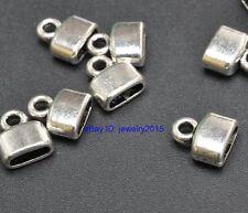 50pcs Tibetan Silver charms Crimp End Beads Connection fit Bracelet 9x8mm G3425