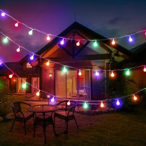 LED String Lights Mains Powered Outdoor Garden Waterproof Multicolour Lighting