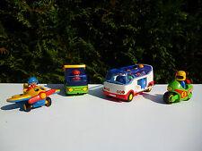 ♥ Lot Playmobil 123 L'Avion, Le Camion, Autocar De Voyage, La Moto