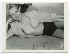 Girl Next Door Fishnets Amazing Huge Nipples 1950 Original Nude Photo  B4623