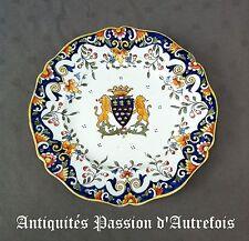 B2017541 - Assiette en faïence décor Rouen - Mont st Michel -Très bon état