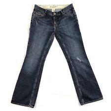 Banana Republic Jeans Premium Low Rise Boot Cut Denim Blue Womens Sz 12 Waist 34