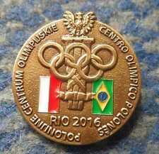 NOC POLAND OLYMPIC RIO 2016 POLISH OLYMPIC CENTER LIMITED EDITION RARE PIN BADGE