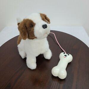 "Remote Control Dog Barking Walking Sitting 9"" Puppy Toy Attached Dog Bone Remote"