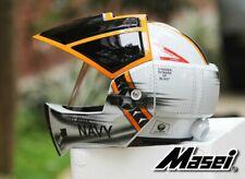 Navy Masei 911 Macross Robotech Cosplay Motorcycle Bike Open Face Arai Helmet