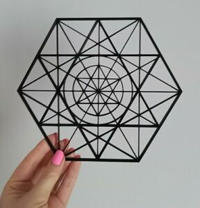 Hexagon Sacred Geometry Geometric Shape Wall Art Decor Hanging Decoration