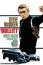 Steve McQueen Bullitt 1968 Film Multi Size Canvas Wall Art Movie Poster Print