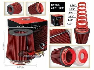Cold Air Intake Filter Universal RED For Jeep Liberty / J Series All Models