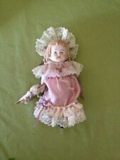 "5"" Victorian doll in Lilac dress in the style of Cathy Hansen"