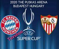 SUPER CUP 2020 Bayern Munich v Sevilla Official UEFA Programme 24/9/20!IN STOCK!