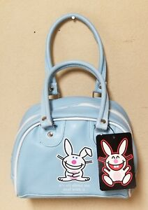 "New Jim Benton Blue Happy Bunny Mini Bag, ""A About Me"" Collectible Bag"