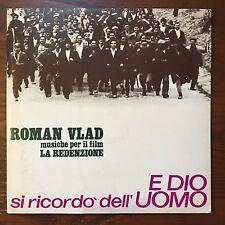 ROMAN VLAD E Dio Si Ricordo Dell Uomo Soundtrack LP EX Italian Pressing PCC