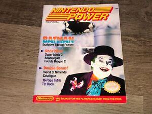 Nintendo Power Volume 10 Jan / Feb 1990 Guide Book Batman w/Poster Very Good