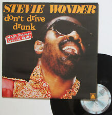 "Vinyle maxi Stevie Wonder  ""Don't drive drunk"""
