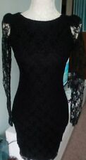 River Island black lacey dress 8
