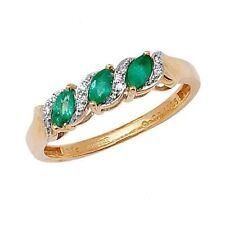 Echte Edelstein-Ringe aus Gelbgold mit Diamant für Jahrestag