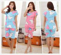 A set of Summer Sleepwear Cartoon Mouse Women Nightwear Sleepshirt Nightshirt