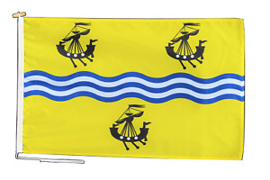 Na h-Eileanan Siar Flag With Rope and Toggle - Various Sizes