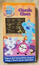 BLUE'S CLUES CLASSIC CLUES Vhs Video 2004 SCHOOL Something To Do Nick Jr. Steve