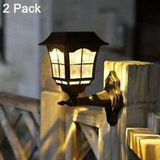 New listing 2 Pack Solar Wall Lantern Outdoor Christmas, Wall Sconce Solar Outdoor Led Light