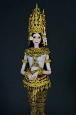 Cambodia Apsara Thai Traditional Costume for Doll Barbie Fashion Royalty 12inch