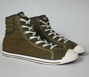 RARE! Converse All Star SLIM FIT HI Olive Green Trainers Boots Women's Size UK 5