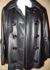 Harrods Knightsbridge London UK12/US SZ 8 Luxury Leather Jacket, Jet Black