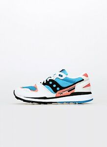Saucony Azura Men's Trainers Shoes White Blue Red New S70437-38