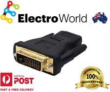 DVI Male 24+1 HDMI Female Plug Converter Socket Adaptor for HDTV Gold Plated