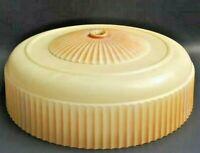Antique Light Shade Globe Vintage Ceiling Glass Beige Lamp Ribbed Art Deco