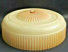 Antique Light Shade Globe Vintage Ceiling Glass Beige Lamp Ribbed Art Deco
