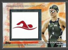 RARE 2012 TOPPS OLYMPIC NATALIE COUGHLIN EVENT PIN CARD #ELP-NC ~ USA SWIMMING