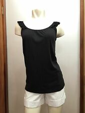 GAP Charcoal Color Tank Shirt Ruffle Size S Small