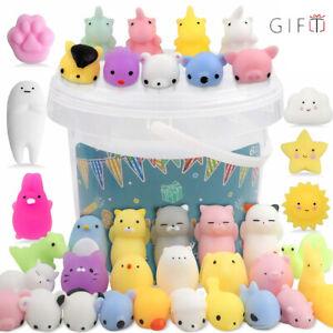 50x Cute Mini Animal Squishies Kawaii Mochi Squeeze Toys Stretch Stress Squishy