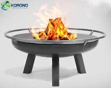 Korono Feuerschale 100cm Durchmesser mit Brennholzregal Holzregal Handmade