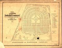 A4 Reprint of America Cities Towns States Map Antietam Cemetary Maryland
