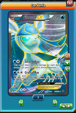 FA Glaceon-EX 116/124 - Pokemon Trading Card Game PTCGO Digital card online