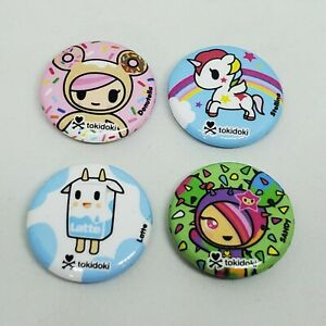 Tokidoki Pinback Button Lot Stellina Unicorno Donutella Moofia Sandy Mini Pin