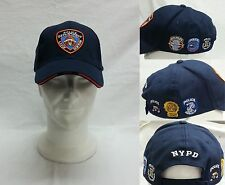 CAPPELLO BLU CON VISIERA N.Y.P.D. NEW YORK POLICE DEPARTMENT TAGLIA UNICA NYPD
