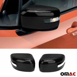 For Jeep Renegade 2018-2021 Genuine Carbon Fiber Mirror Cover Cap 2 Pcs