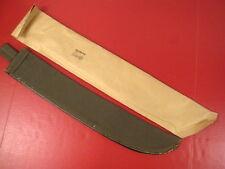 """Vietnam Era Us Navy Usn Canvas Machete Scabbard for 22"""" Blade - Dated 1960 Mint"""