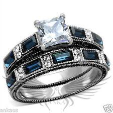 Set 5 6 7 8 9 10 Tk1829 Brilliant 1.25ct Princess Cubic Zircon Cz Aaa Wedding