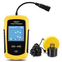 100M Portable Sonar Sensor Fish Finder Fishfinder LCDUltrasonic Echo Sounder