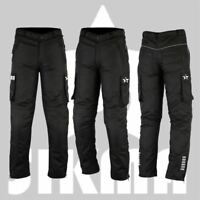 Mens Motorbike Trouser Armoured Waterproof Motorcycle Long Pants Bottom Black