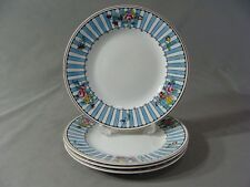 4 Ridgeway Semi Porcelain Salad Plates In The Beaumont #5883 Pattern, England
