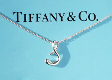Tiffany & Co Elsa Peretti Sterling Silver Alphabet Letter Initial S Necklace