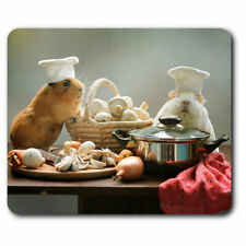 Computer Mouse Mat - Adorable Chef Guinea Pig Pet Office Gift #3857